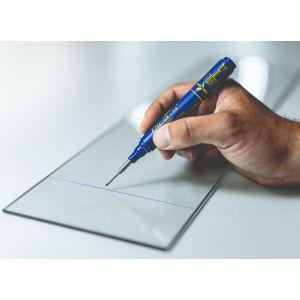 Creion marker PICA Ink 150/41 pentru gauri adanci - albastru