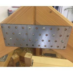 Placa metalica perforata pentru lemn - dimensiuni diverse