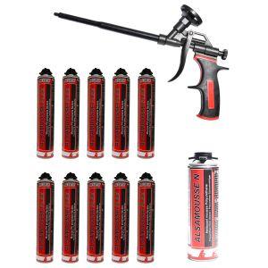 Promotie spuma poliuretanica pentru pistol, flexibilă, Alsafix Alsamousse FLEX tub 750 ml - 10 tuburi