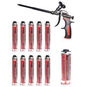 Promotie spuma poliuretanica pentru pistol, Alsafix Alsamousse tub 750 ml - 10 tuburi
