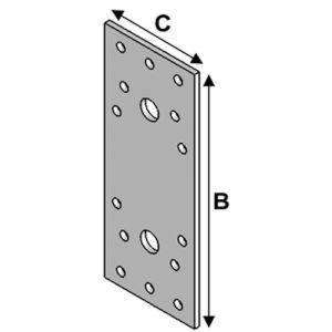 Conector metalic plat pentru lemn - dimensiuni diverse