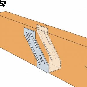 Suport metalic grindă pană lemn Cantilever 64x158x2 mm